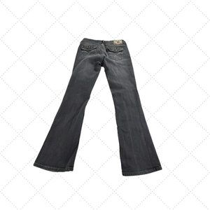 YMI Size 7 Low Rise Boot Cut Black Jeans